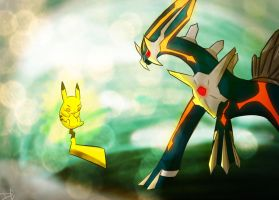 VS Primal Dialga by DC-san