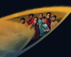 Star Trek TOS Crew by TheAngryAngel