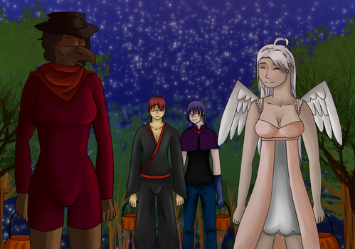 [AA2] - Trick or Treat | Airlia+Aledis+Rene+Kaoru by DeniMusic