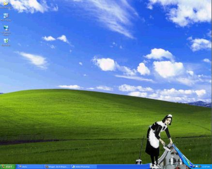 Banksy Maid Desktop by mrbishop