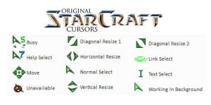 Starcraft Original Cursors by kayllena