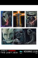 Journey to The Last Jedi official sketch cards by Art-by-Jilani