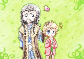 Thorin x Bilbo by Tari-Ringeril