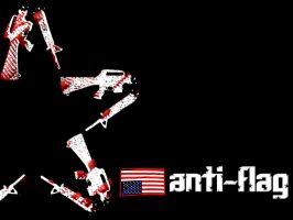 Anti-Flag Gunstar Black by RedStarMedia