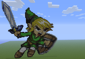 Toon Link in Minecraft by Linkage92