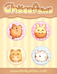 Button Set ''ChocoPaws'' by Mellymiew