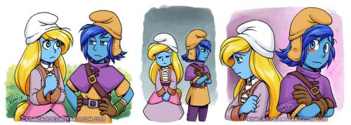 Smurfs AU: Stormfette First Meeting by rinacat