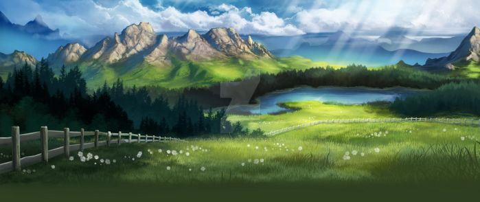 Mountain Background by AonikaArt