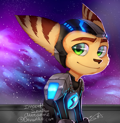 Furball in space by InsertSomthinAwesome