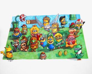 If Minions were Nintendo Characters by OMKDrawings