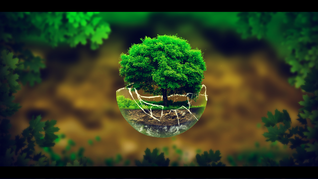 Tree in a sphere by YeikoSV