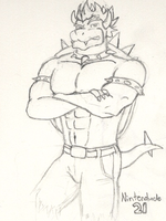 Bowser in Jeans by Nintendude21