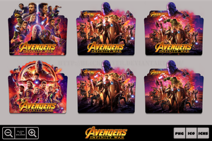 Avengers Infinity War (2018) Folder Icon Pack by Bl4CKSL4YER