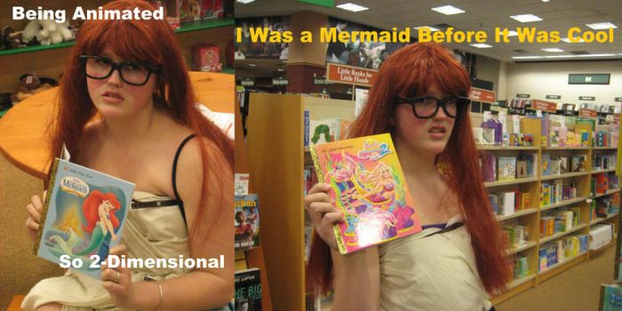 Hipster Ariel is a Hipster by Checker-Bee