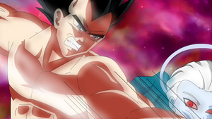vegeta vs daishinkhan kurayami no tenshi movie by LadyTakerFandub