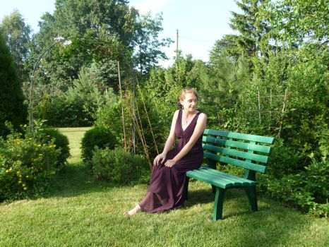 lady - garden bench 1 by indeed-stock