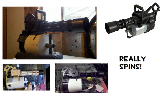 Team Fortress 2 Minigun prop by Zodiacx10