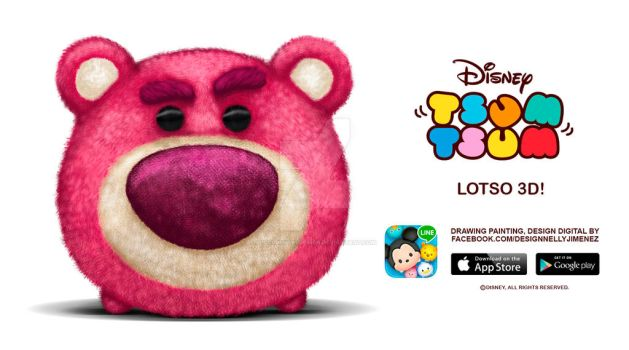 Lotso Tsum Tsum Disney by DollDigitalDesign