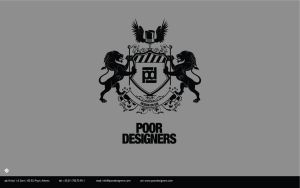 poor designers display logo by B-positive
