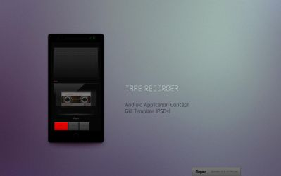 Android: Tape Recorder App. Concept by bharathp666