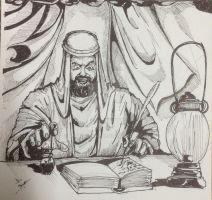 Abdul Alhazred and the creation of Necronomicon by mrinal-rai
