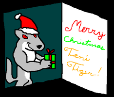 To Tani Tiger: Merry Christmas by WolfTron