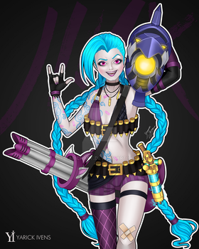 Jinx - League Of Legends by YarickArt