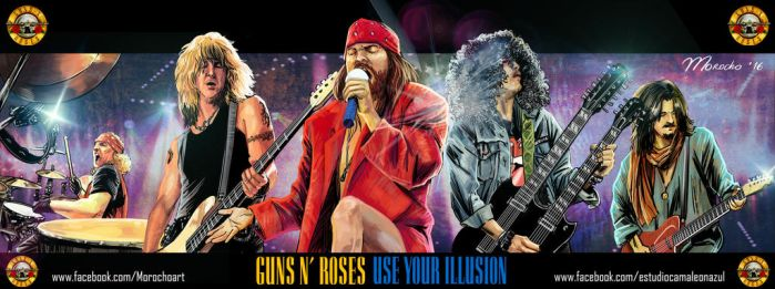 Guns n Roses Poster Use your Illusion by guarike