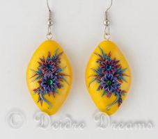Gypsy Song Flower Earrings by DeidreDreams