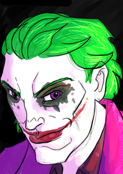 Joker Portrait by Mercvtio