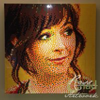 Lindsey Stirling LEGO Mosaic by chadrossartwork