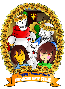 Undertale Late Anniversary gift by EliHedgie95