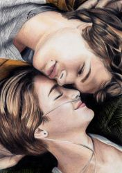 The Fault In Our Stars - coloured pencil by izziwizVIII