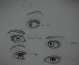 Just doodles of eyes by Twillight-lover