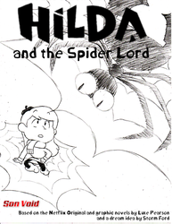 Mock Cover Sketch ~ Hilda and the Spider Lord by Son-Void
