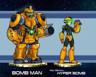 MMRedesign: DLN-006 Bomb Man by AdamWithers