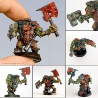 Warhammer 40k figures - Orc 1 by ukapala
