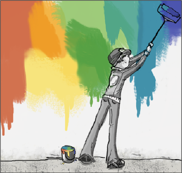 Paint a Rainbow by DarkStripedT