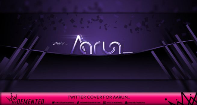 Twitter Cover for Aarun_ by MzDemented