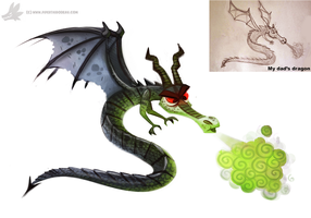 Daily Painting 892# Collaborating with my Dad :) by Cryptid-Creations