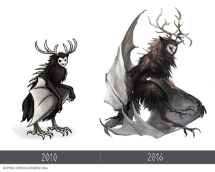 Owl Creature Redraw by Kipine