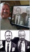 Arron Paul's dad with my Breaking Bad Drawing by Doctor-Pencil