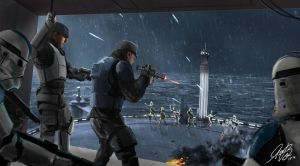 Star Wars Battle On Kamino Commission by Entar0178