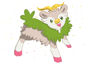 Shiny Skiddo by Willow-Pendragon