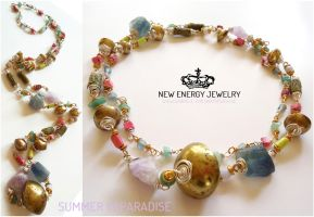 SUMMER IN PARADISE crystal energy necklace by NEWENERGYJEWELRY