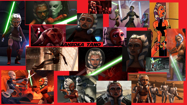 Ahsoka Tano Wallpaper Collage by MADBlacklord