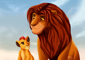 Simba and Kion TLK style by Takas15
