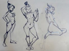Life Drawing May 2014 by Gizmoatwork