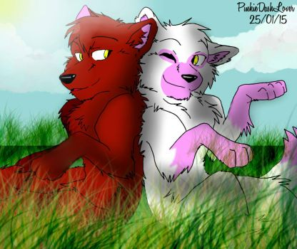 Mangle And Foxy|I love you|#2 by PinkieDashLover