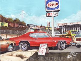 The Life Story Of A 1970 Chevy Chevelle (Part 5) by FastLaneIllustration